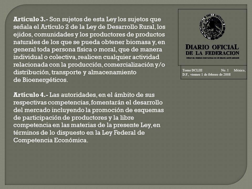 Tomo DCLIII No. 1 México, D.F., viernes 1 de febrero de 2008.
