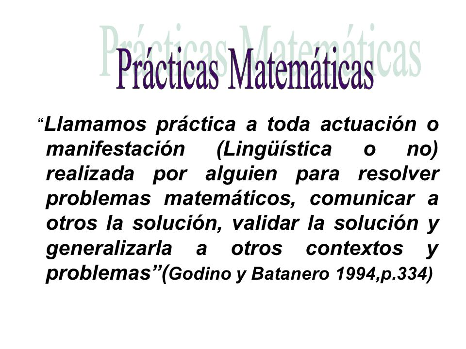 Prácticas Matemáticas