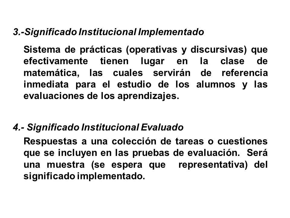 3.-Significado Institucional Implementado