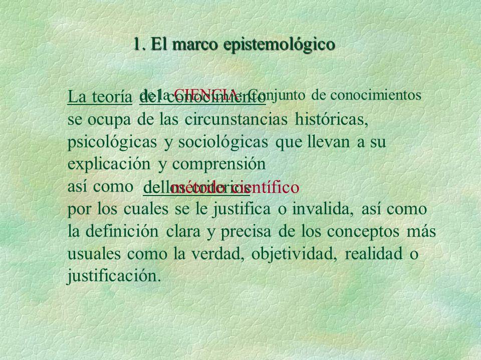 1. El marco epistemológico