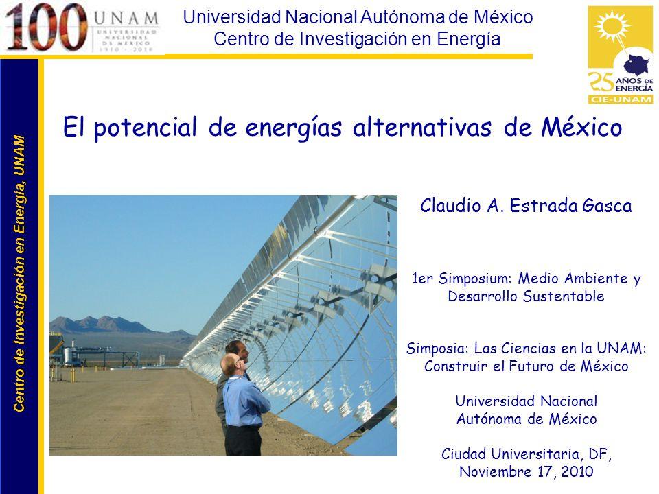 El potencial de energías alternativas de México