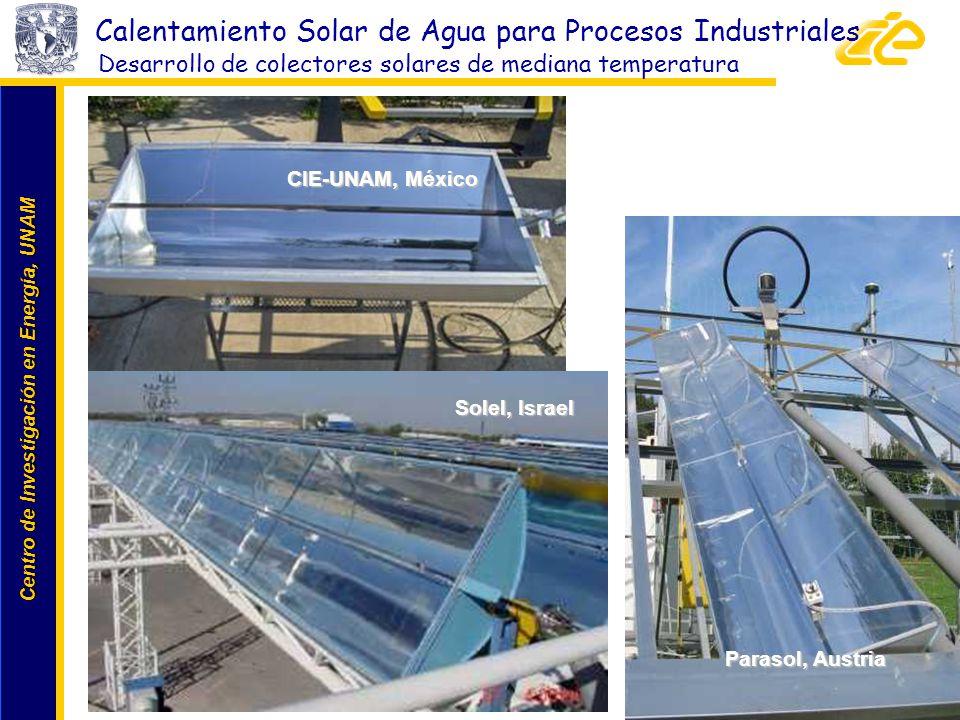 Desarrollo de colectores solares de mediana temperatura