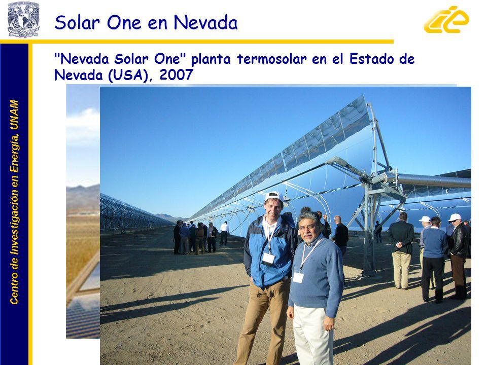 Solar One en Nevada Nevada Solar One planta termosolar en el Estado de Nevada (USA), 2007.