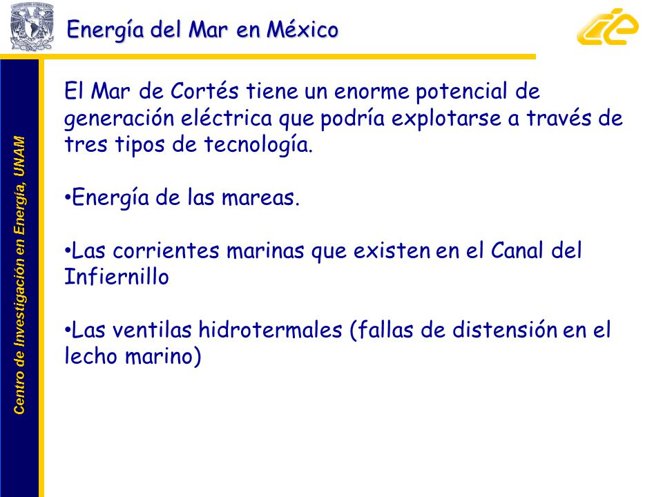Energía del Mar en México