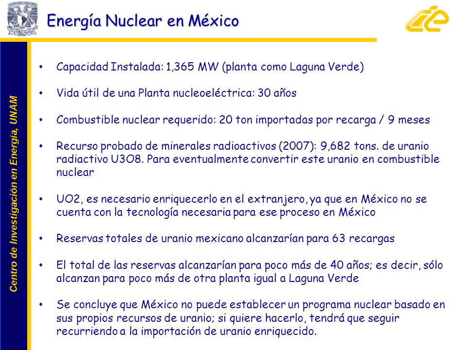 Energía Nuclear en México