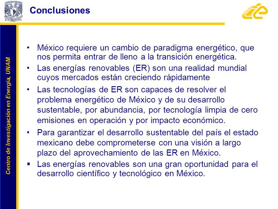 Conclusiones México requiere un cambio de paradigma energético, que nos permita entrar de lleno a la transición energética.