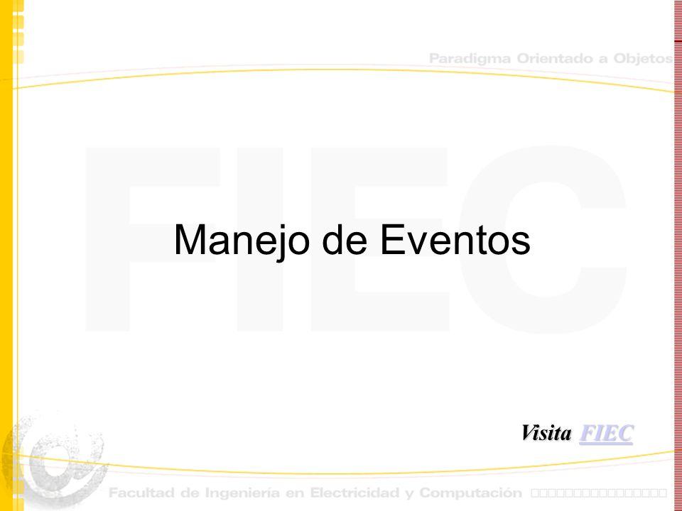 Manejo de Eventos Visita FIEC