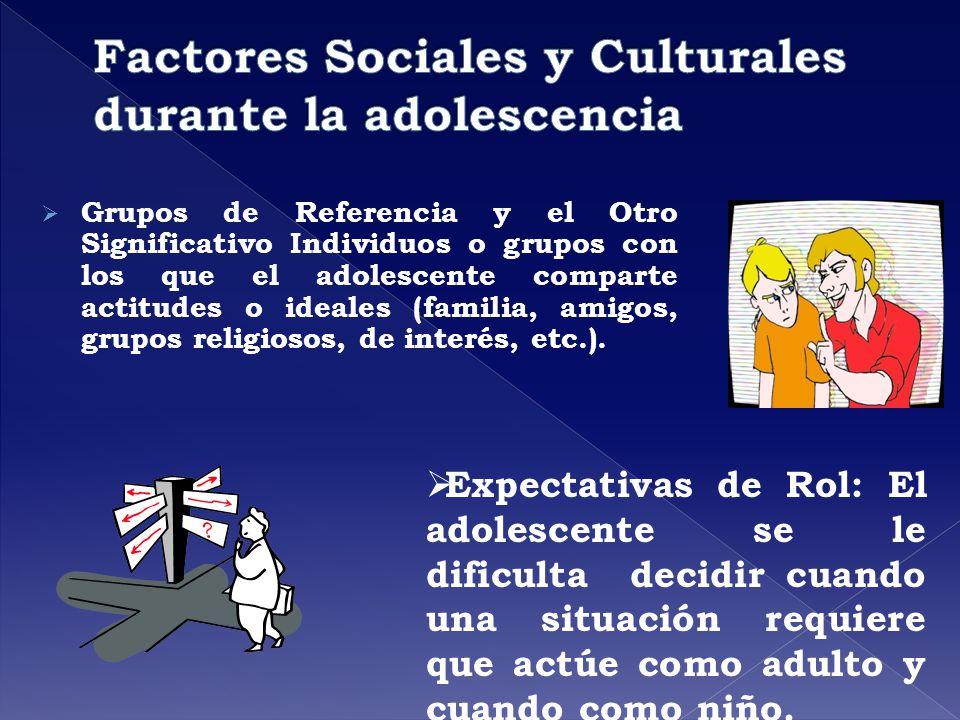 Factores Sociales y Culturales durante la adolescencia