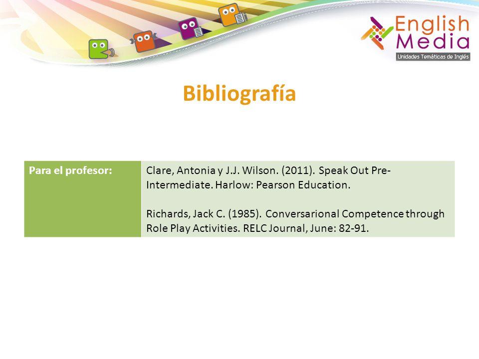 Bibliografía Para el profesor: