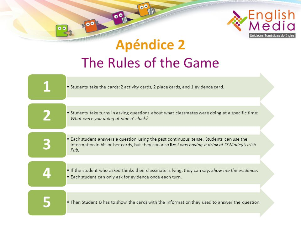 Apéndice 2 The Rules of the Game