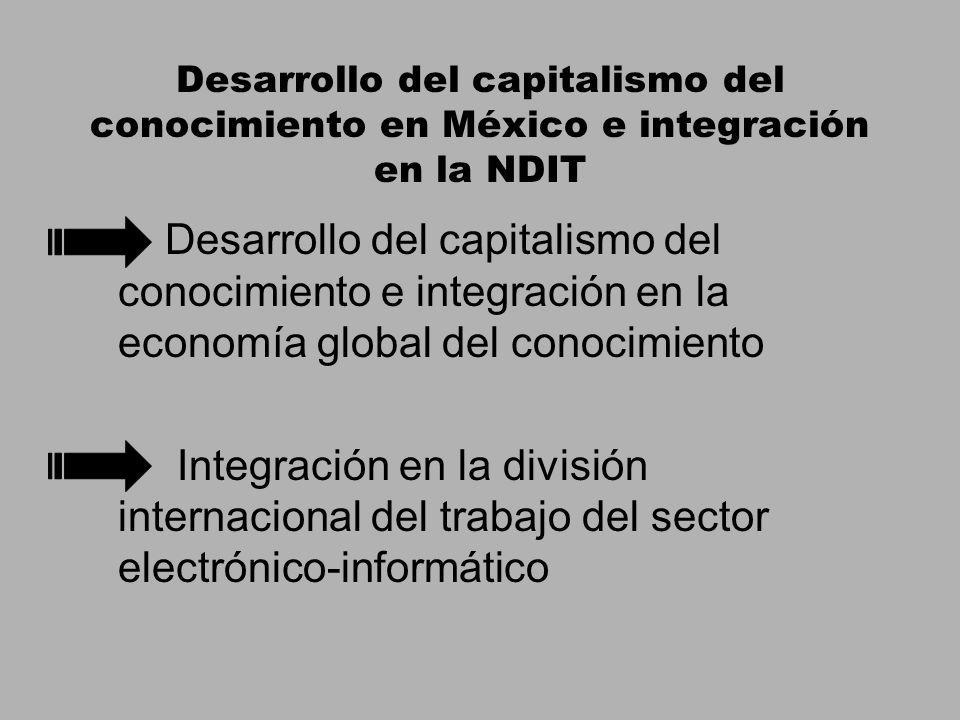 Desarrollo del capitalismo del conocimiento en México e integración en la NDIT