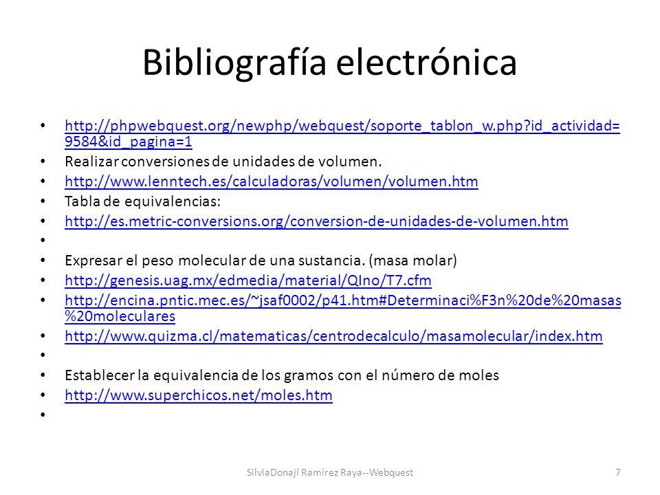 Bibliografía electrónica