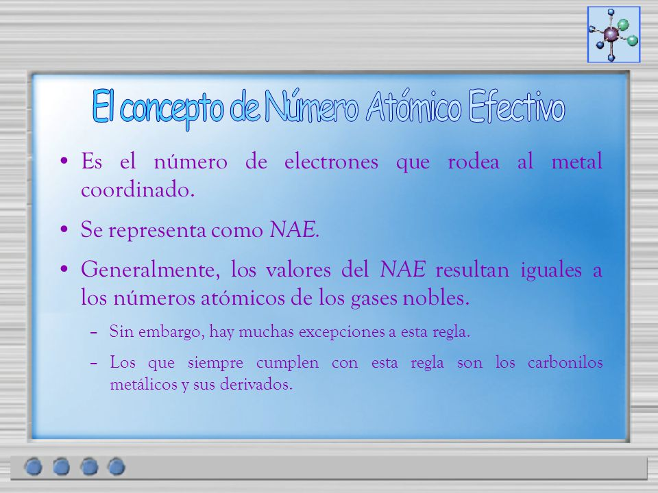 El concepto de Número Atómico Efectivo
