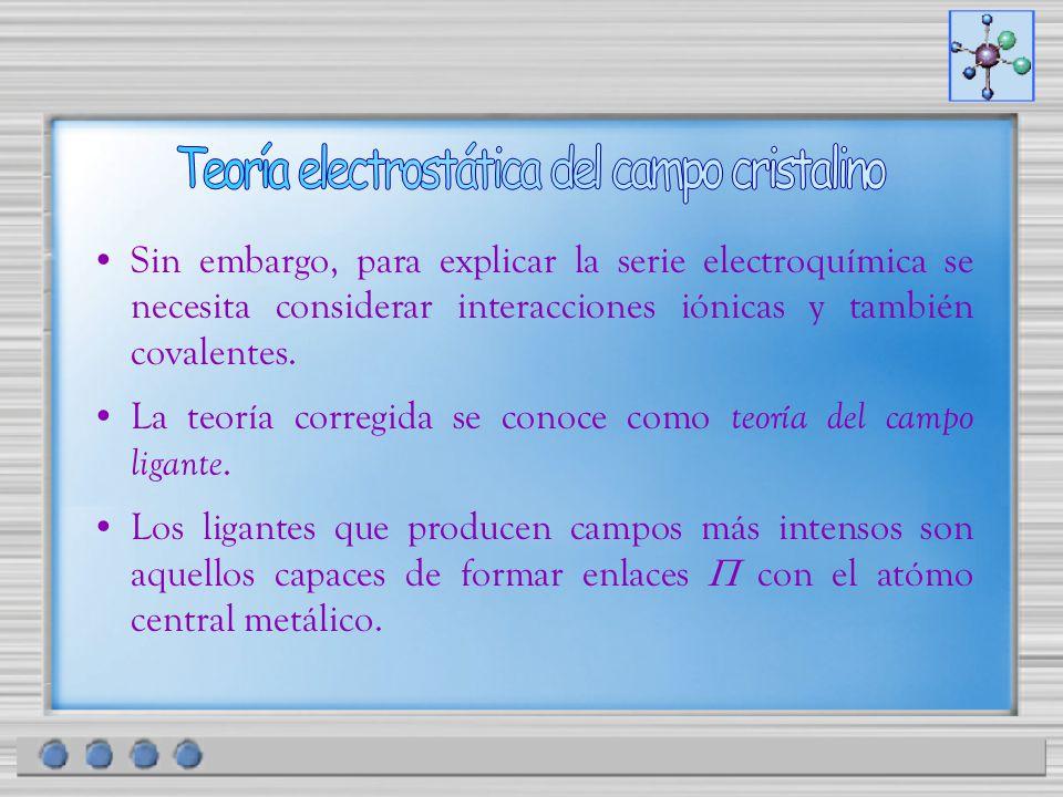 Teoría electrostática del campo cristalino