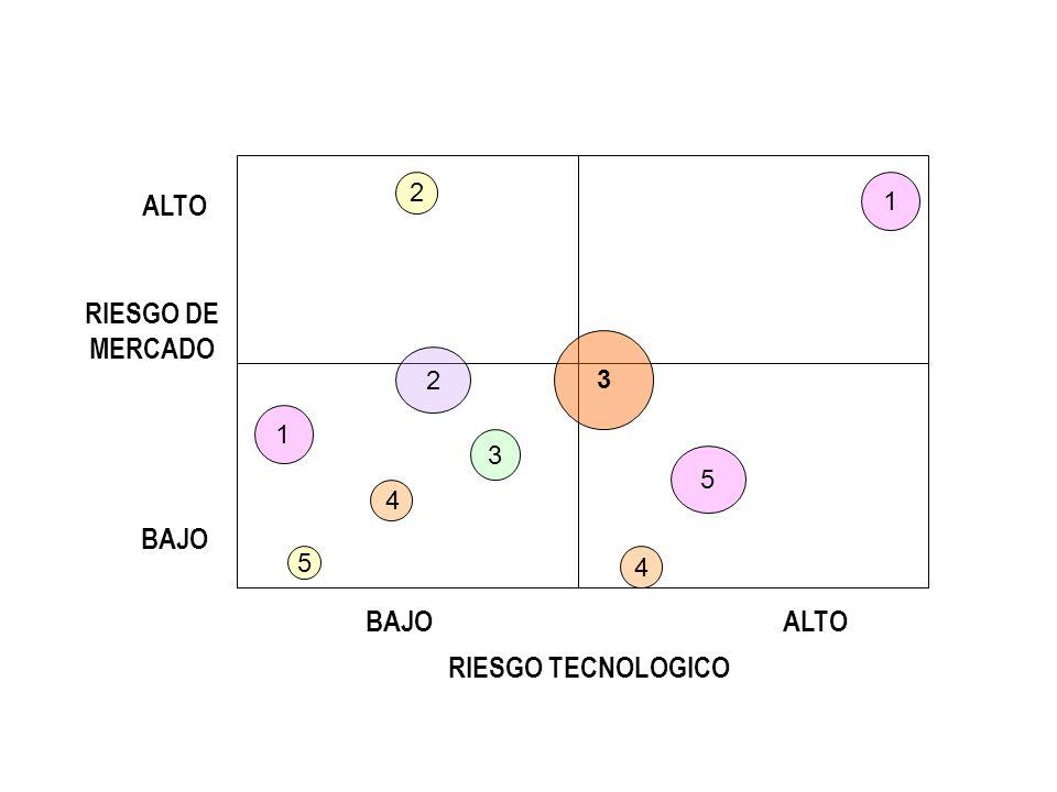 RIESGO DE MERCADO RIESGO TECNOLOGICO BAJO ALTO