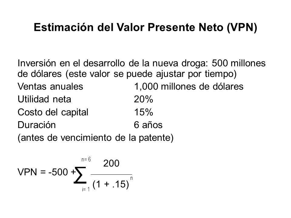 Estimación del Valor Presente Neto (VPN)