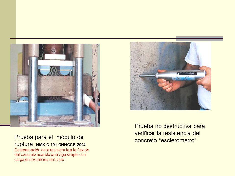 Prueba no destructiva para verificar la resistencia del concreto esclerómetro