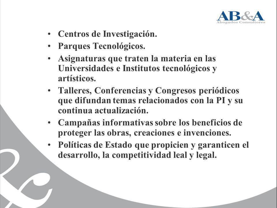 Centros de Investigación.