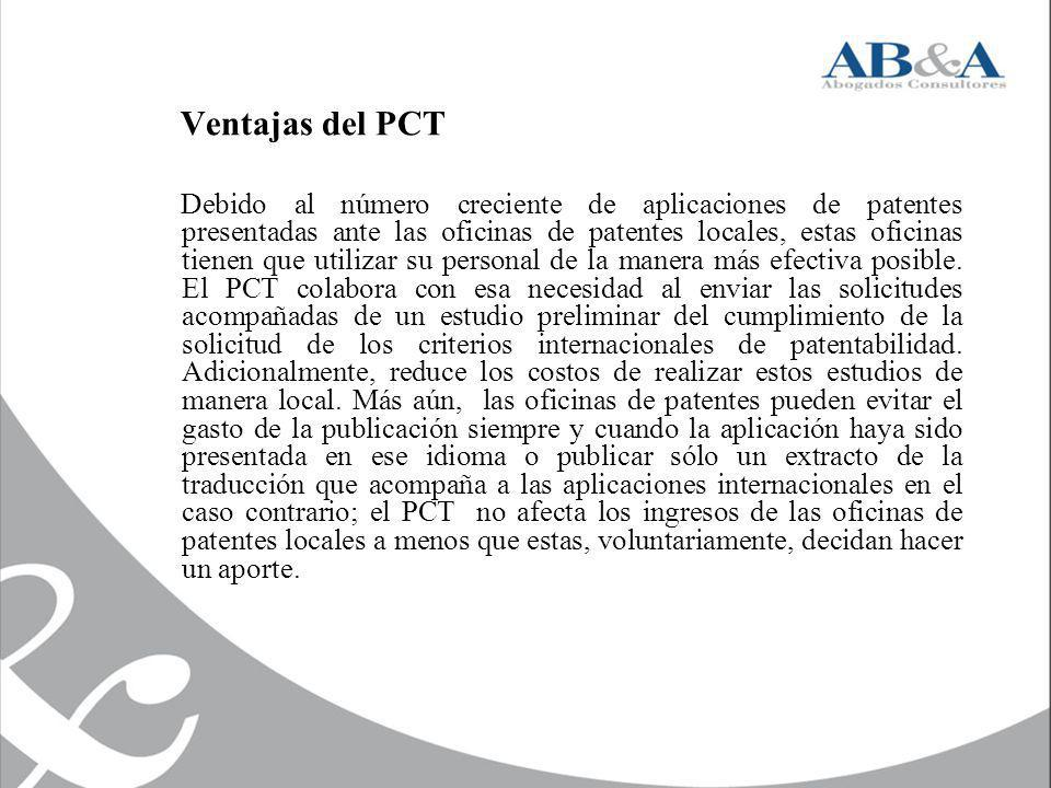 Ventajas del PCT