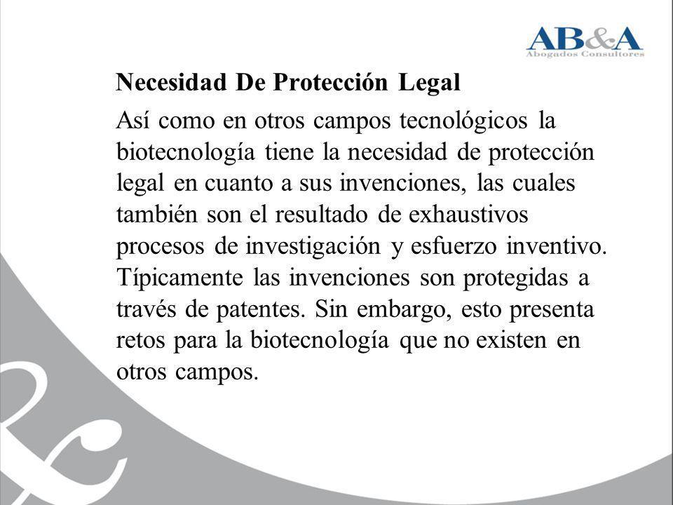 Necesidad De Protección Legal