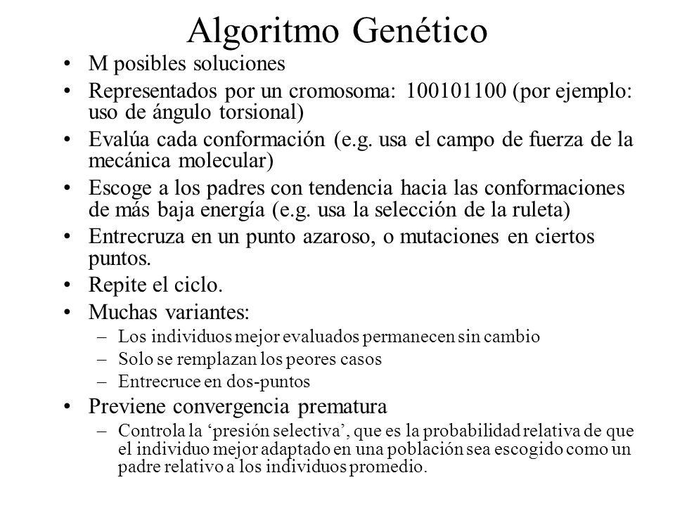 Algoritmo Genético M posibles soluciones