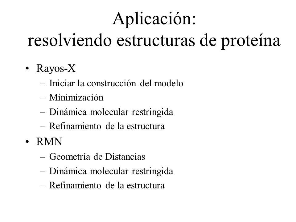 Aplicación: resolviendo estructuras de proteína