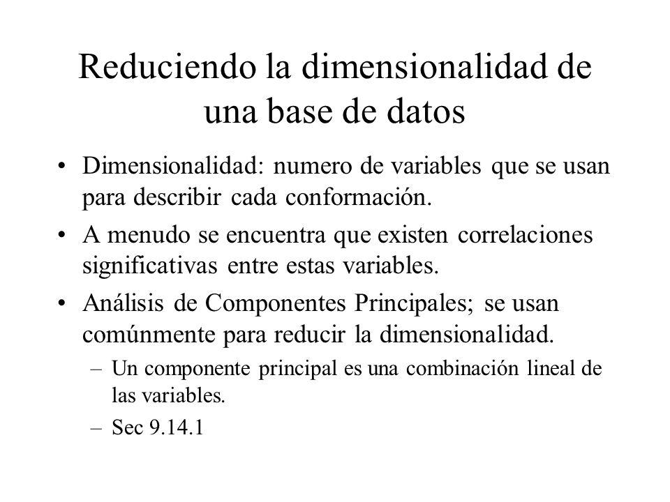 Reduciendo la dimensionalidad de una base de datos
