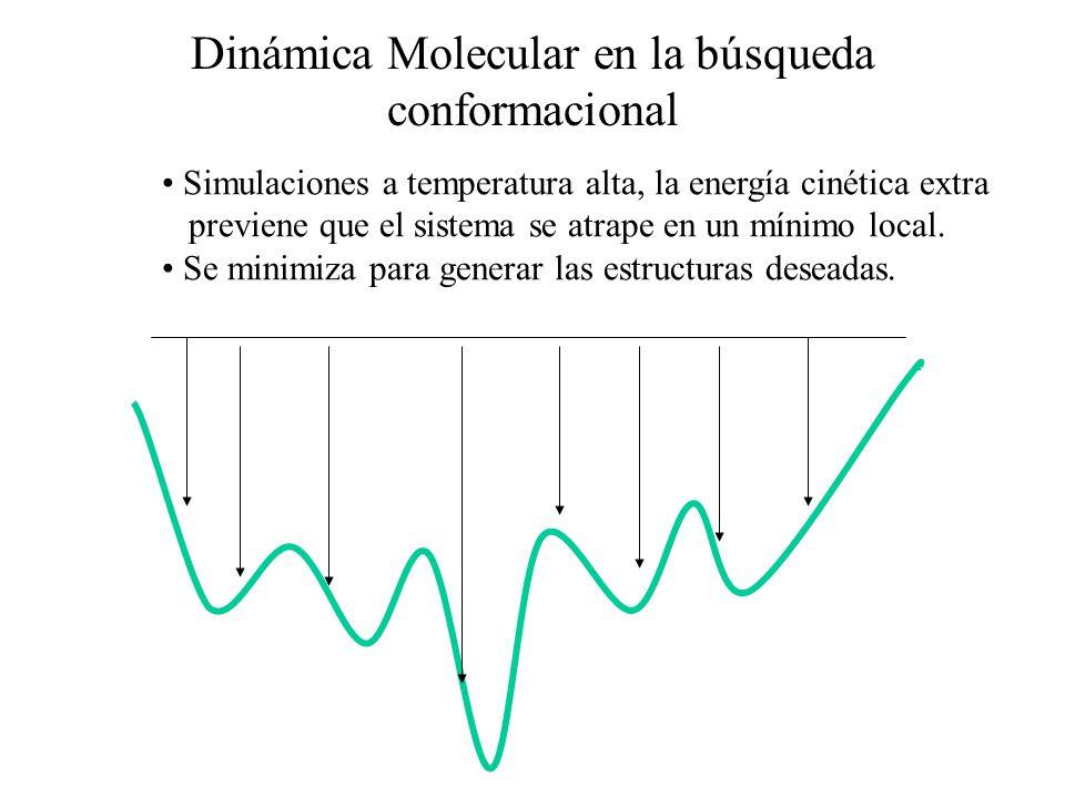 Dinámica Molecular en la búsqueda conformacional