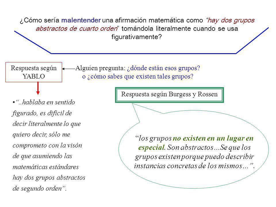Respuesta según Burgess y Rossen