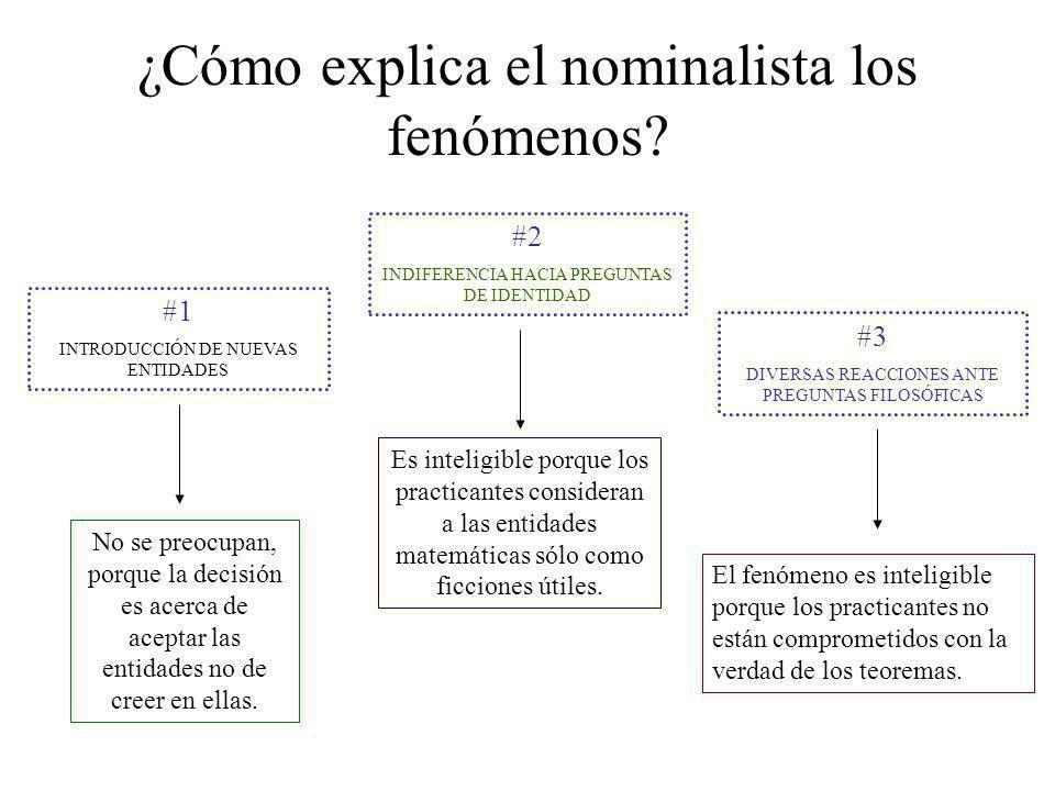 ¿Cómo explica el nominalista los fenómenos