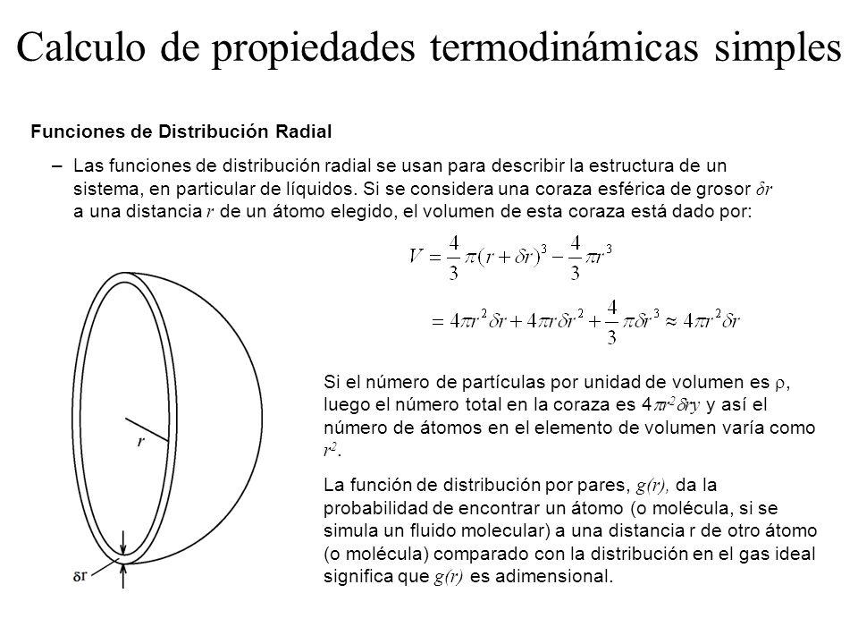 Calculo de propiedades termodinámicas simples