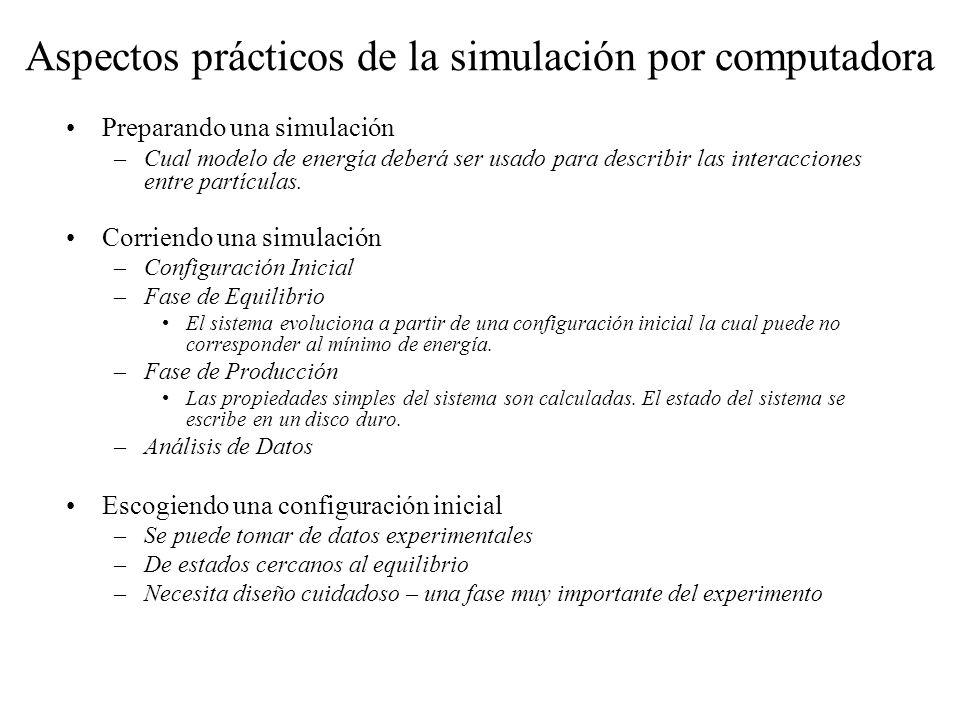Aspectos prácticos de la simulación por computadora