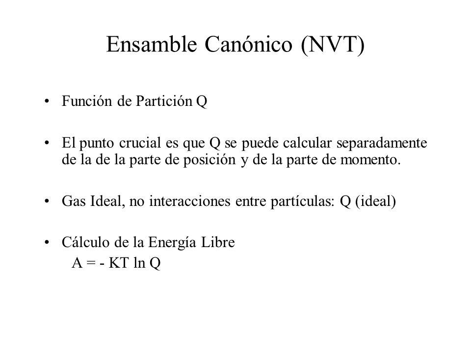 Ensamble Canónico (NVT)