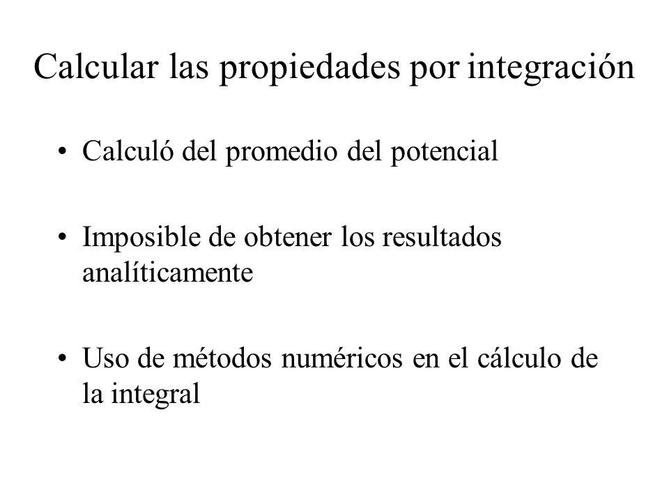 Calcular las propiedades por integración