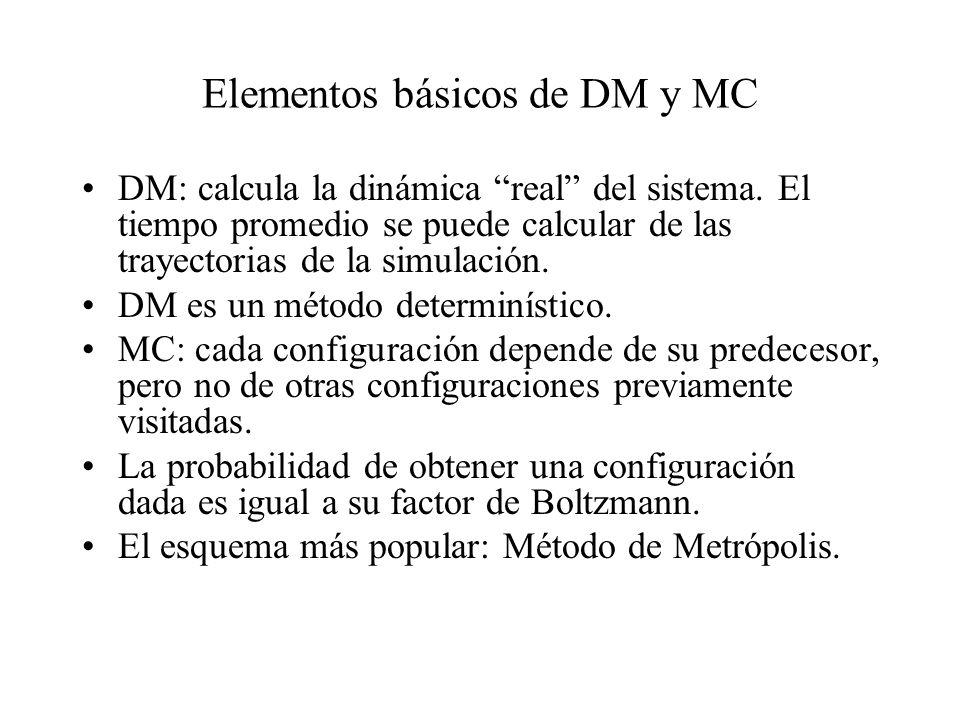Elementos básicos de DM y MC
