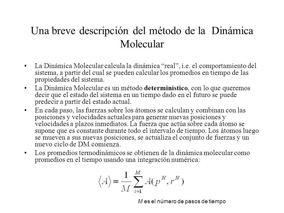 Una breve descripción del método de la Dinámica Molecular