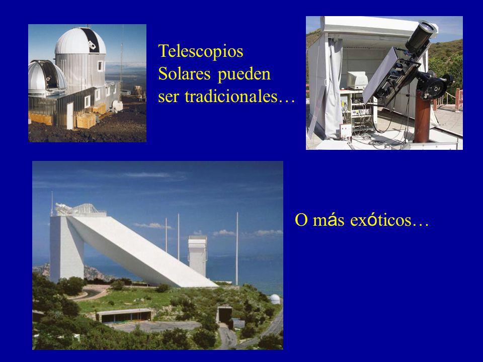 Telescopios Solares pueden ser tradicionales… O más exóticos…