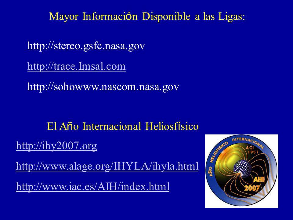 Mayor Información Disponible a las Ligas: