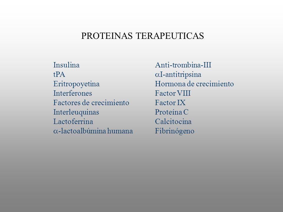 PROTEINAS TERAPEUTICAS
