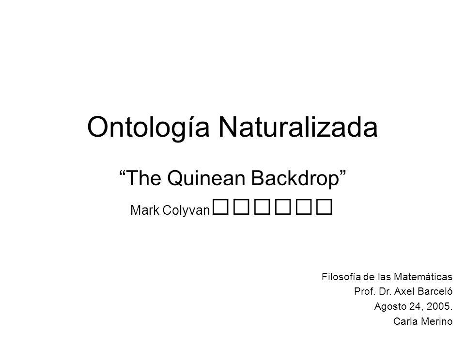 Ontología Naturalizada