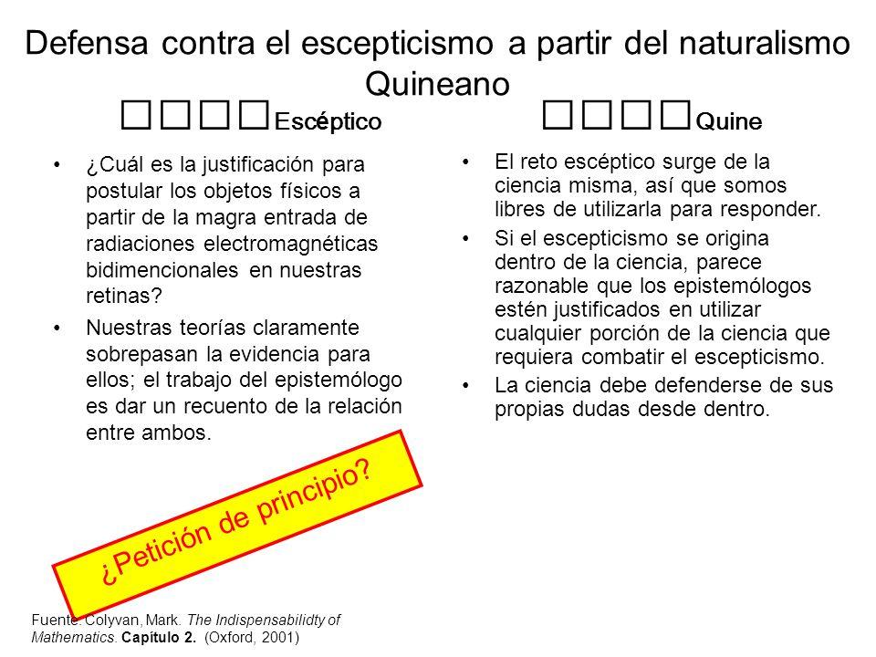 Defensa contra el escepticismo a partir del naturalismo Quineano