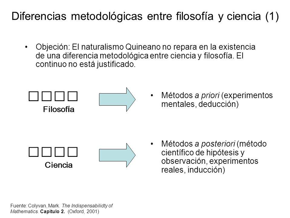 Diferencias metodológicas entre filosofía y ciencia (1)