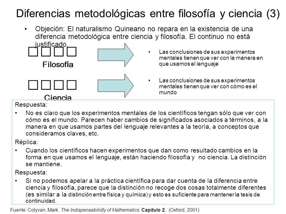 Diferencias metodológicas entre filosofía y ciencia (3)