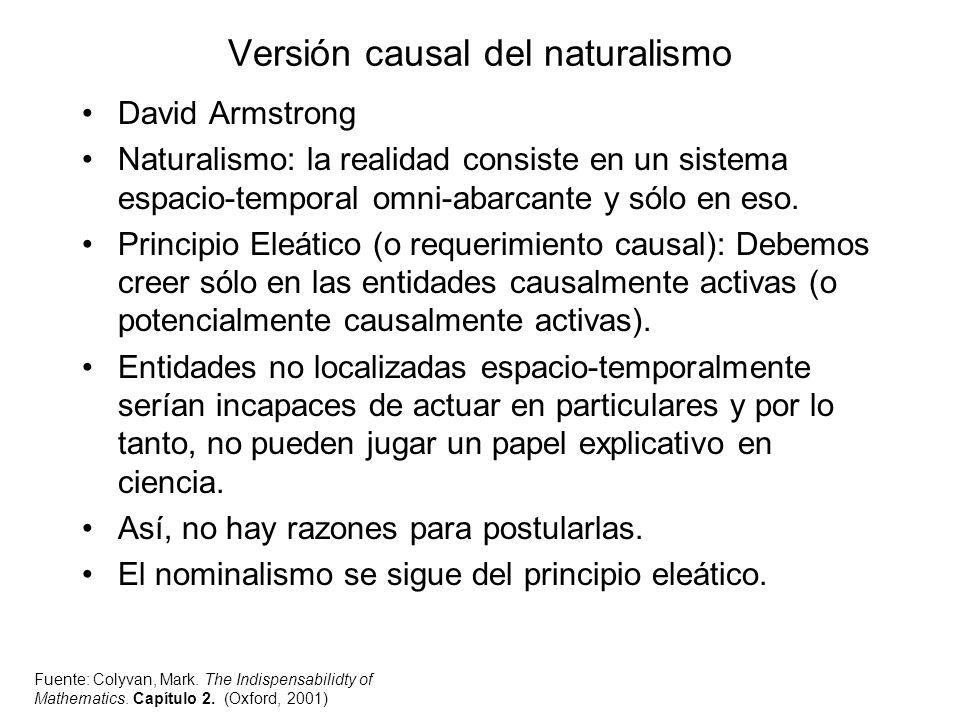 Versión causal del naturalismo