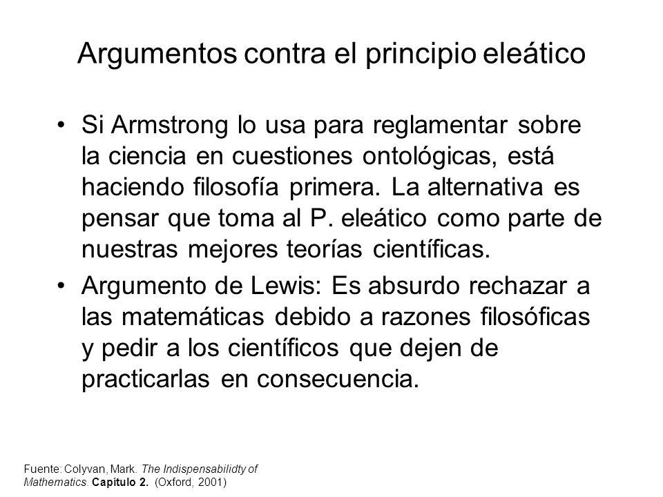 Argumentos contra el principio eleático