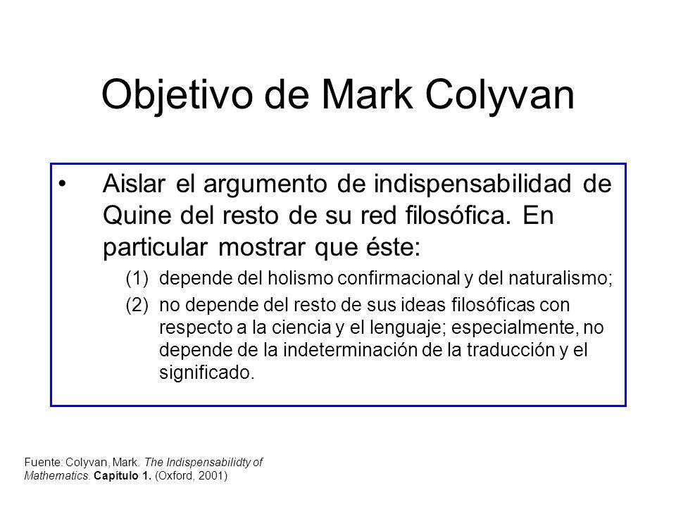 Objetivo de Mark Colyvan