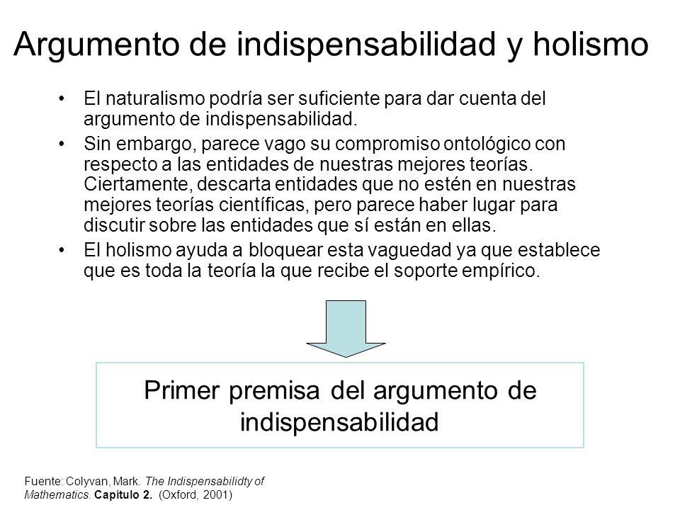 Argumento de indispensabilidad y holismo
