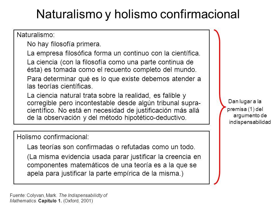 Naturalismo y holismo confirmacional