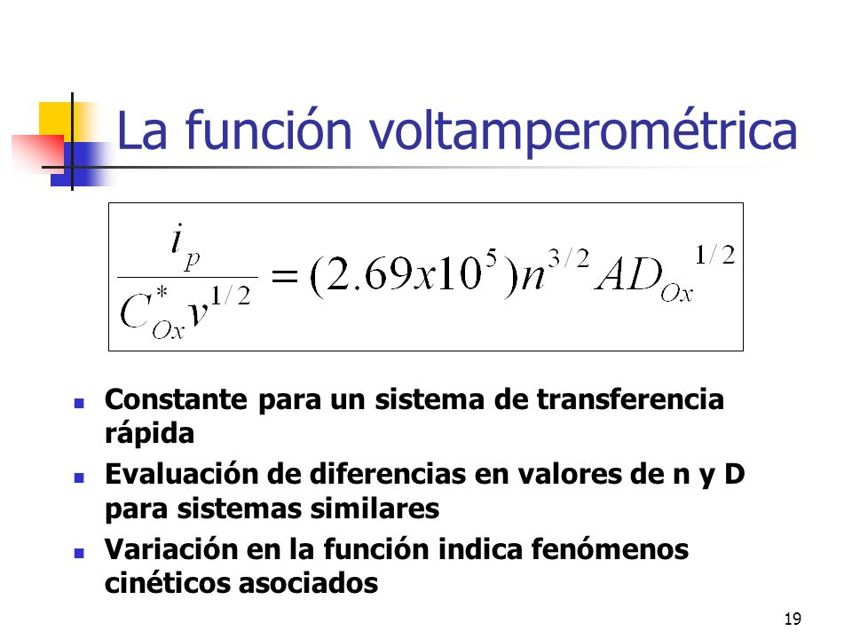 La función voltamperométrica