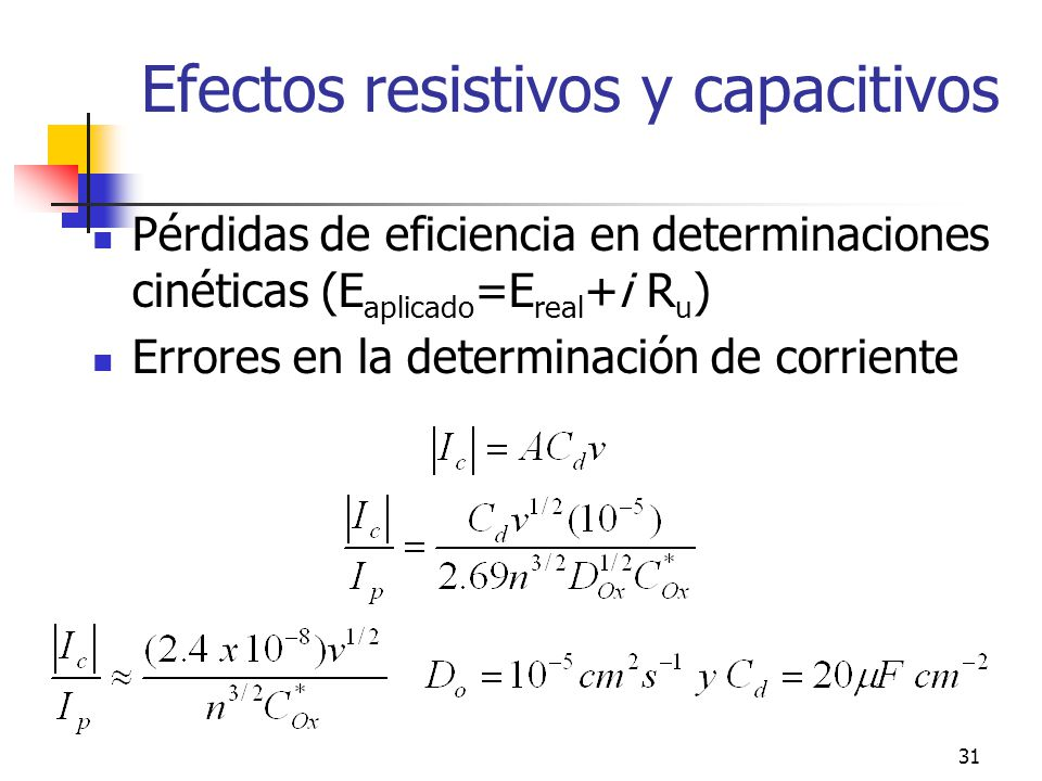 Efectos resistivos y capacitivos
